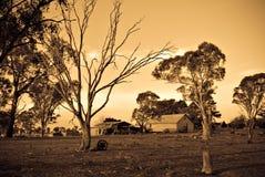 Vecchia casa dell'azienda agricola fotografia stock libera da diritti