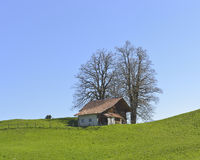 Vecchia casa dell'azienda agricola da Aeschiried Immagine Stock Libera da Diritti