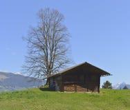Vecchia casa dell'azienda agricola da Aeschiried Fotografia Stock Libera da Diritti