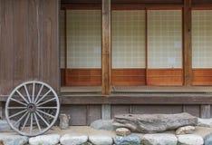 Vecchia casa dell'azienda agricola nel Giappone Immagini Stock