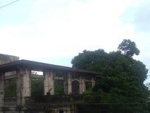 vecchia casa dell'ustione Fotografia Stock Libera da Diritti