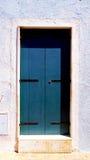Vecchia casa della porta in Burano Fotografia Stock Libera da Diritti