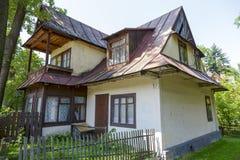 Vecchia casa di abitazione, Zakopane Fotografie Stock