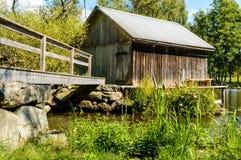 Vecchia casa di barca Fotografia Stock