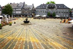 Vecchia casa di Fachwerk in Goslar. Fotografie Stock