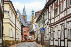 Vecchia casa di Fachwerk in Goslar. Immagini Stock Libere da Diritti