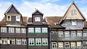 Vecchia casa di Fachwerk in Wolfenbuttel. Fotografia Stock