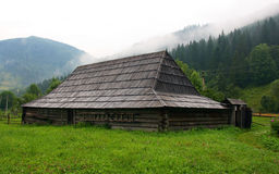 Vecchia casa di legno Fotografia Stock