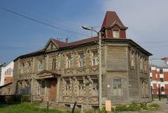 Vecchia casa di legno, Riazan, Russia Fotografia Stock