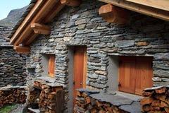 Vecchia casa di pietra Immagine Stock Libera da Diritti