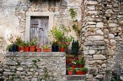 Vecchia casa di pietra italiana Fotografia Stock