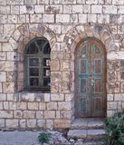 Vecchia casa di pietra Rosh-Pina Israele fotografia stock libera da diritti