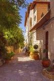 Vecchia casa di pietra in Safed, Galilea superiore, Israele immagine stock libera da diritti