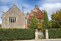 Vecchia casa di pietra, Salisbury, Inghilterra fotografia stock libera da diritti
