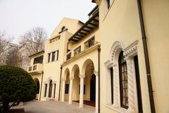 Vecchia casa di Schang-Hai Fotografia Stock