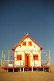 Vecchia casa di spiaggia Fotografia Stock Libera da Diritti