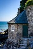 Vecchia casa di spiaggia, Mothecombe (orientamento ritratto) Immagine Stock