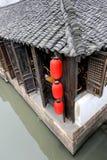 Vecchia casa di tè tradizionale in Wuzhen Fotografia Stock Libera da Diritti