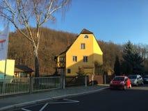 Vecchia casa in Freital, Sassonia fotografie stock