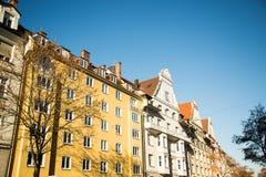Vecchia casa gialla a in Germania - Monaco di Baviera Immagine Stock Libera da Diritti