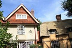 Vecchia casa inglese singolare del villaggio nel padiglione dei paesi a Epcot immagini stock