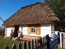 Vecchia casa, Kolacze, Polonia Fotografia Stock
