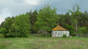 Vecchia casa in Kruchik, Ucraina immagine stock
