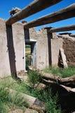 Vecchia casa messicana spagnola del fango Immagine Stock Libera da Diritti