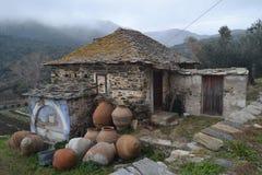 Vecchia casa in monte Athos, Grecia Fotografia Stock Libera da Diritti