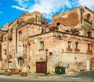 Vecchia casa a Napoli Fotografia Stock