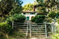 Vecchia casa nel legno della Croazia Fotografia Stock