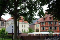 Vecchia casa nella città di Colmar fotografie stock