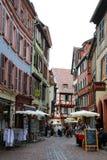 Vecchia casa nella città di Colmar immagini stock libere da diritti