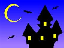 Vecchia casa nella notte Immagine Stock