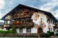 Vecchia casa nello stile bavarese Fotografia Stock