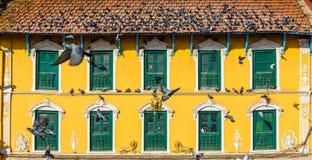 Vecchia casa nepalese a Kathmandu Fotografie Stock Libere da Diritti