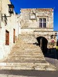 Vecchia casa in Rodi, Grecia Fotografie Stock Libere da Diritti