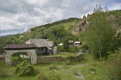 Vecchia casa a Rosia Montana, Romania, Europa Fotografia Stock