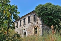 Vecchia casa rovinata Fotografia Stock