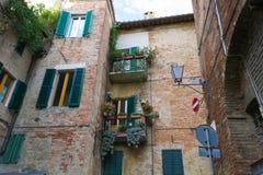Vecchia casa a Siena, Italia Fotografia Stock