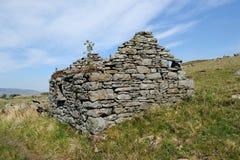 Vecchia casa sul ad ovest dell'Irlanda Fotografia Stock