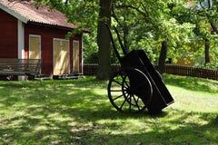 Vecchia casa svedese Immagine Stock