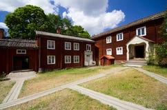 Vecchia casa svedese tradizionale Fotografia Stock