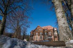 Vecchia casa in Szklarska Poreba immagini stock libere da diritti