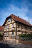 Vecchia casa tedesca Fotografia Stock Libera da Diritti