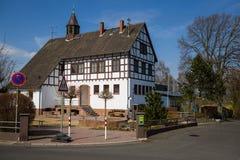 Vecchia casa tedesca della scuola Fotografia Stock Libera da Diritti