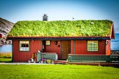 Vecchia casa tradizionale in Norvegia Immagine Stock