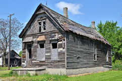 Vecchia casa trascurata a Detroit Fotografie Stock