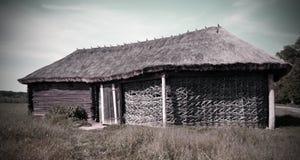 Vecchia casa ucraina nazionale Fotografie Stock Libere da Diritti