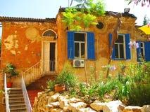 Vecchia casa un-storeyed del sud a Beirut Fotografia Stock